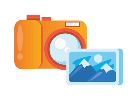 picture file format with camera photographic vector illustration design