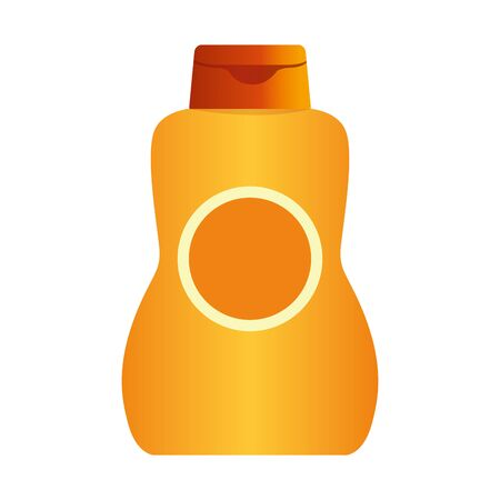 sun bronzer bottle icon over white background, colorful design, vector illustration