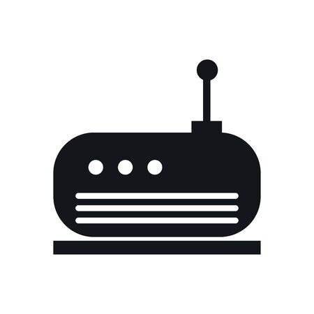 router wireless device flat icon vector illustration design Illustration