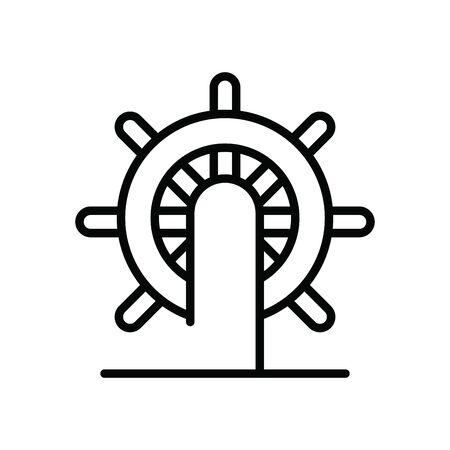 helm boat wheel isolated icon vector illustration design