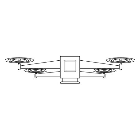 air drone remote control technology blue device cartoon vector illustration graphic design