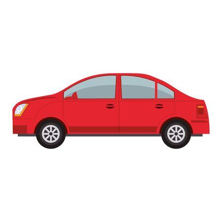 sedan car icon over white background, vector illustration Zdjęcie Seryjne - 136730466