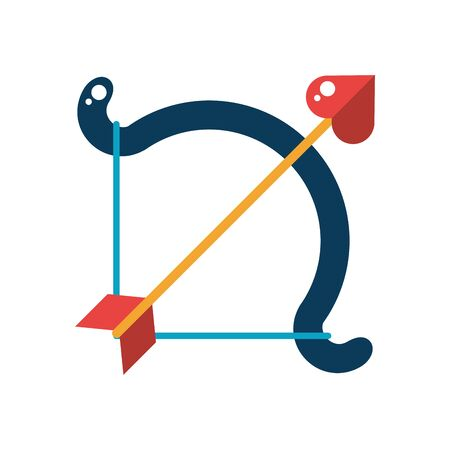 arch with arrow isolated icon vector illustration design
