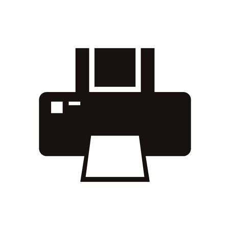 computer printer hardware device isolated icon vector illustration design Ilustrace