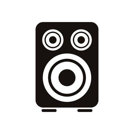 Lautsprecher Audio Musik isoliert Symbol Vektor Illustration Design