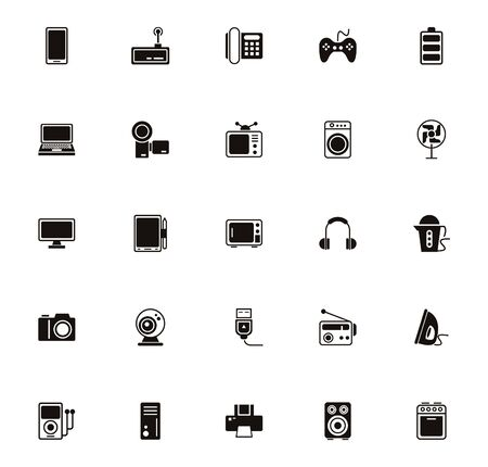bundle of electronics devices icons vector illustration design