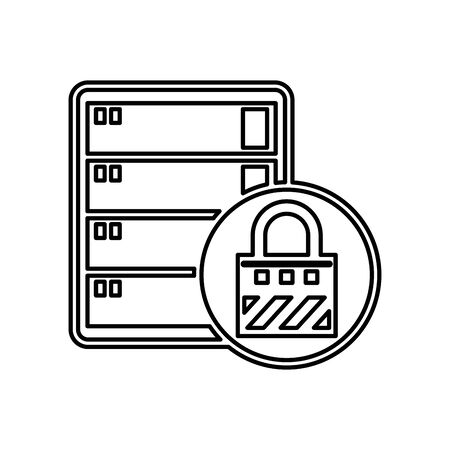 data server tower isolated icon vector illustration design