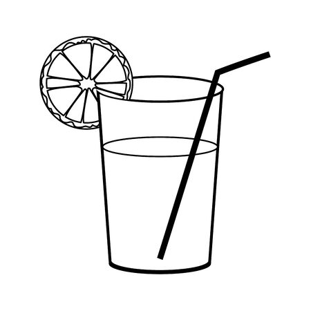 Icono de jugo de naranja sobre fondo blanco, ilustración vectorial Ilustración de vector