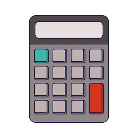 Calculator math device isolated Design Vecteurs