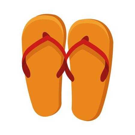 beach sandals icon over white background, vector illustration Vector Illustration