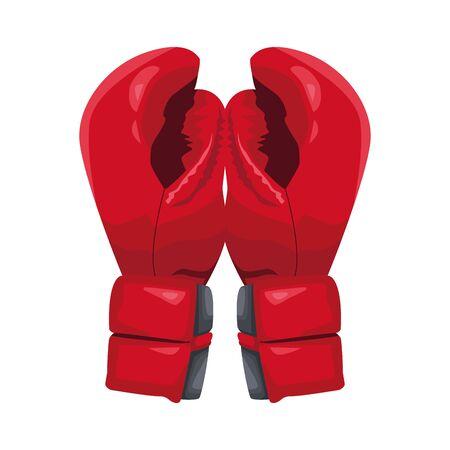 boxing gloves icon over white background, vector illustration Illustration