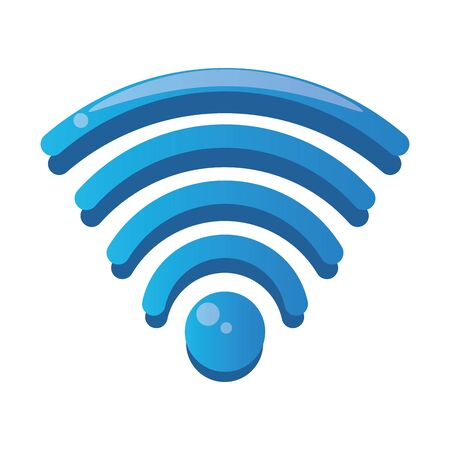 wifi connection signal isolated icon vector illustration design
