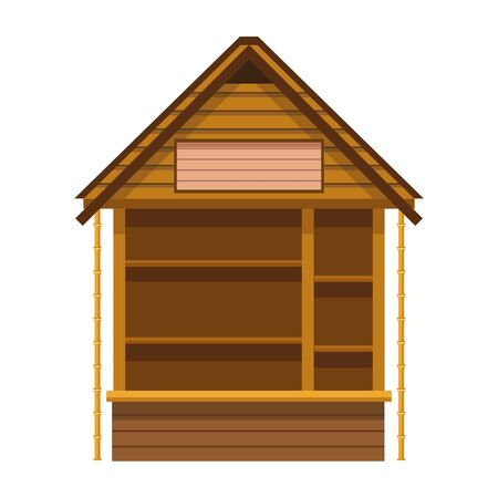 log cabin icon over white background, vector illustration