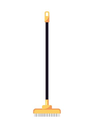 housekepping broom brush isolated icon vector illustration design Banco de Imagens - 137083589