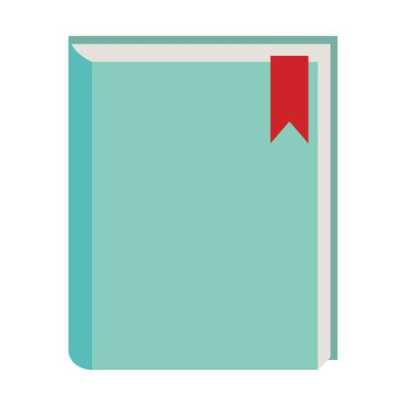 Academic book icon over white background, colorful design. vector illustration