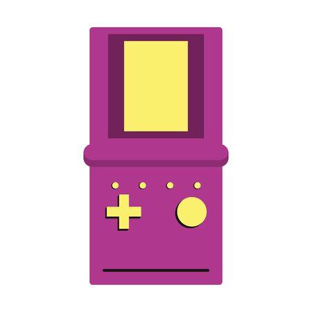 retro vintage game tetris gameplay console isolated cartoon vector illustration graphic design Illustration