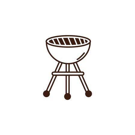 oktoberfest oven grill celebration isolated icon vector illustration design