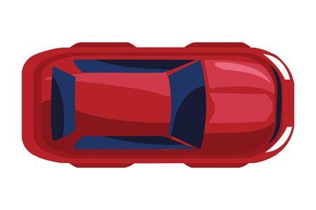 car vehicle transport upper view icon cartoon vector illustration graphic design
