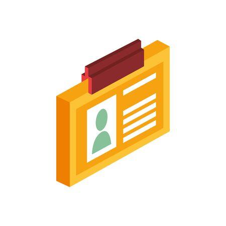 id document access isolated icon vector illustration design Ilustracja