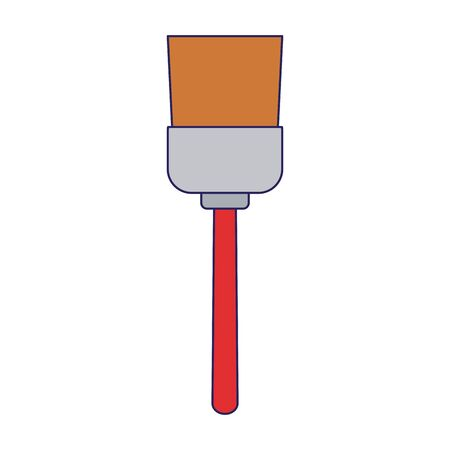 paint brush icon over white background, flat design, vector illustration