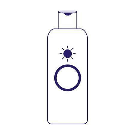 sunscreen bottle icon over white background, flat design, vector illustration Illustration