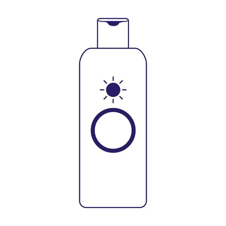 sunscreen bottle icon over white background, flat design, vector illustration 矢量图像