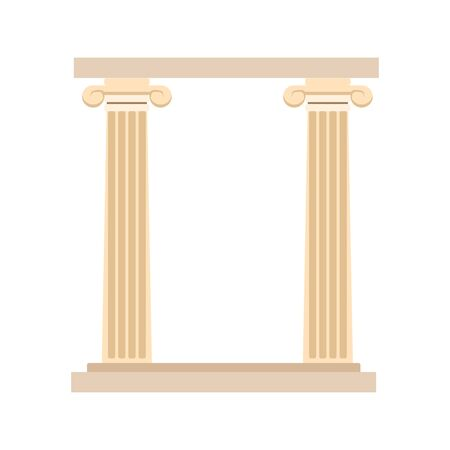 arch of columns icon over white background, vector illustration Archivio Fotografico - 137300522