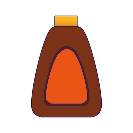 sun bronzer bottle icon over white background, vector illustration Illustration