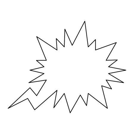 communication bubble icon over white background, flat design, vector illustration Иллюстрация
