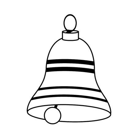 classic bell icon over white background, flat design, vector illustration Stock Illustratie