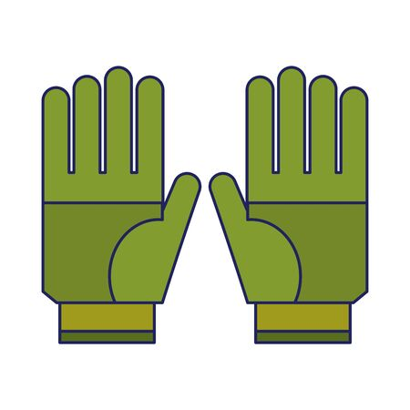 Gardening gloves wear isolated icon ilustration vector