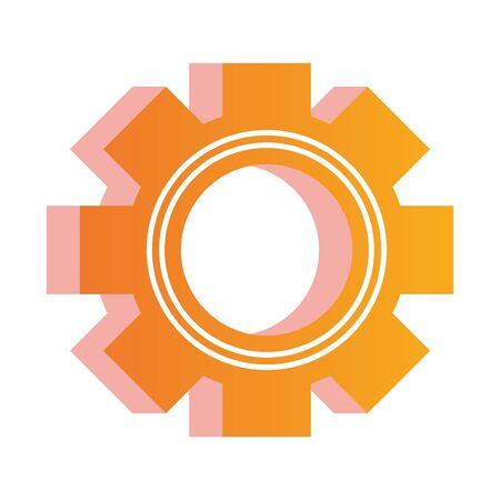 gear settings setup isolated icon vector illustration design Ilustração