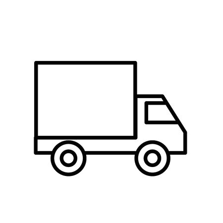 delivery service truck isolated icon vector illustration design Çizim
