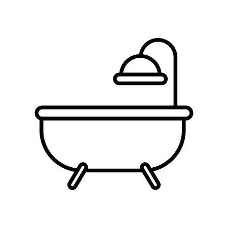bathtub shower house bathroom icon vector illustration design 向量圖像