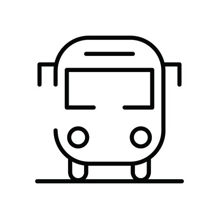 bus public transport isolated icon vector illustration design Çizim