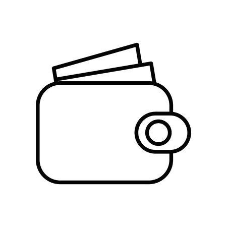 wallet money economy isolated icon vector illustration design Ilustração