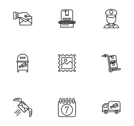 bundle of postal service icons vector illustration design Illustration