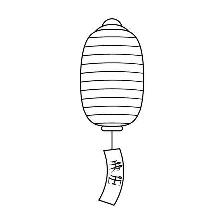 chinese lantern iconover white background, vector illustration