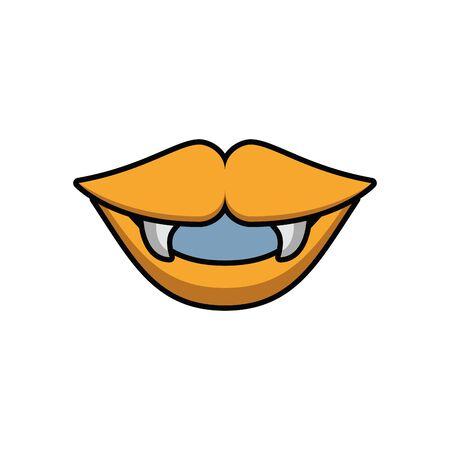 mouth dracula halloween isolated icon vector illustration design Ilustração