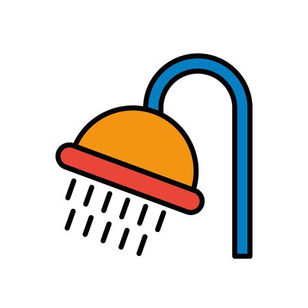 shower tap house accessory icon vector illustration design Ilustracja