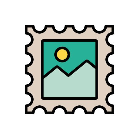 stamp postal service isolated icon vector illustration design