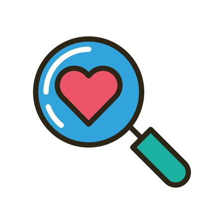 search magnifying glass isolated icon vector illustration design Illustration