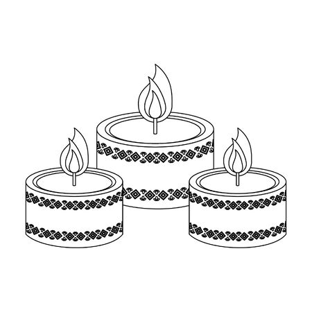 Spa aromatherapy candles isolated cartoon vector illustration graphic design