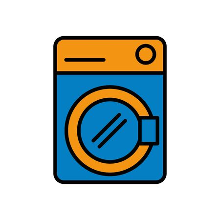 washing machine appliance isolated icon vector illustration design