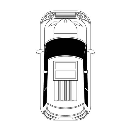 top view of a car icon over white background, vector illustration Zdjęcie Seryjne - 137691231