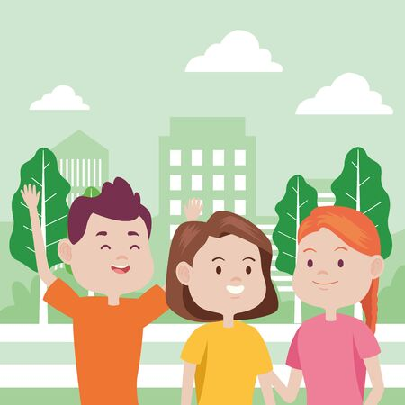 young people characters in the park vector illustration design Foto de archivo - 137564791