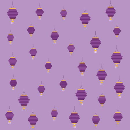 Chinese paper lantern purple background pattern ,vector illustration graphic design. Imagens - 137754281