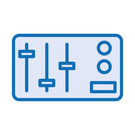 control panel audio isolated icon vector illustration design