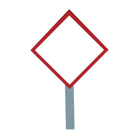 Icône de panneau d'avertissement vierge sur fond blanc, illustration vectorielle
