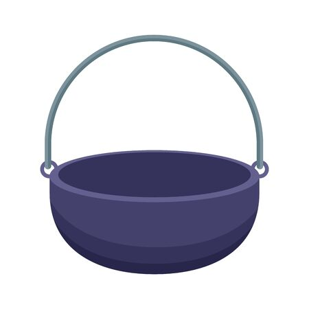 camping cauldron icon icon over white background, vector illustration 写真素材 - 137795204
